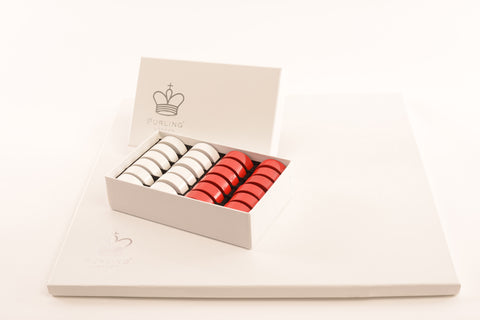 Purling of London Classic Red & Gloss White Draughts Set - Luxury Games - 1