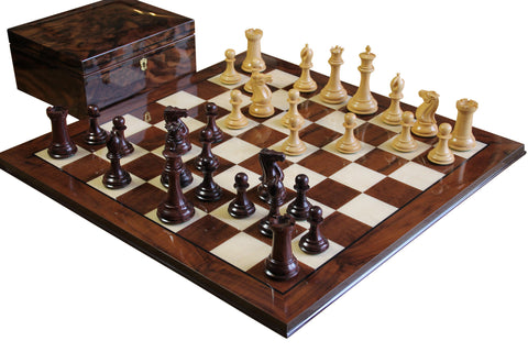 Rosewood Collector Walnut Chess Set - Luxury Games - 1