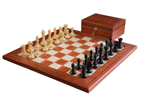 Broadbent 1865 Mahogany Chess Set - Luxury Games - 1