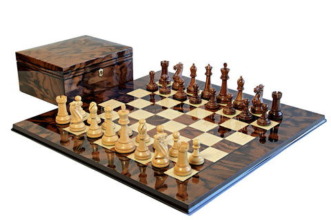 Italian Walnut Winchester Chess Set - Luxury Games - 1