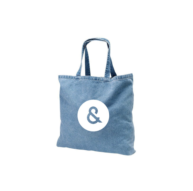 DENIM SHOPPING BAG. *PRESALE*