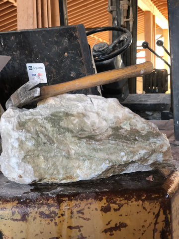 LP1103 Large green alabaster carving stone 26 lbs. Shipping included.