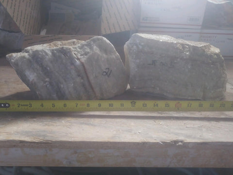 JF005 Silvercloud two alabaster stones 21 lbs. Shipping included!
