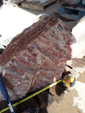 LP18 Large Grecian Raspberry alabaster 130 lbs.