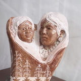 Et Mojave brown alabaster in this sculpture by Adrian Wall.