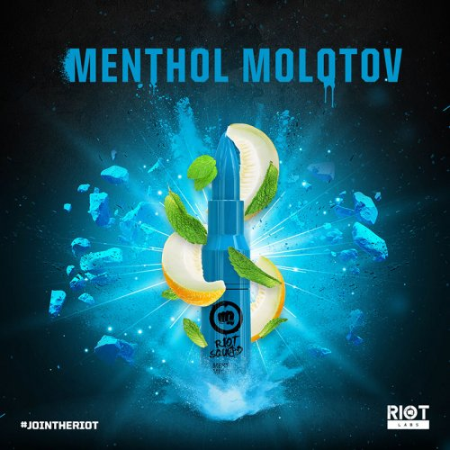 Riot Squad MENTHOL MOLOTON 50ml OVERDOSED - E-Liquid made in UK