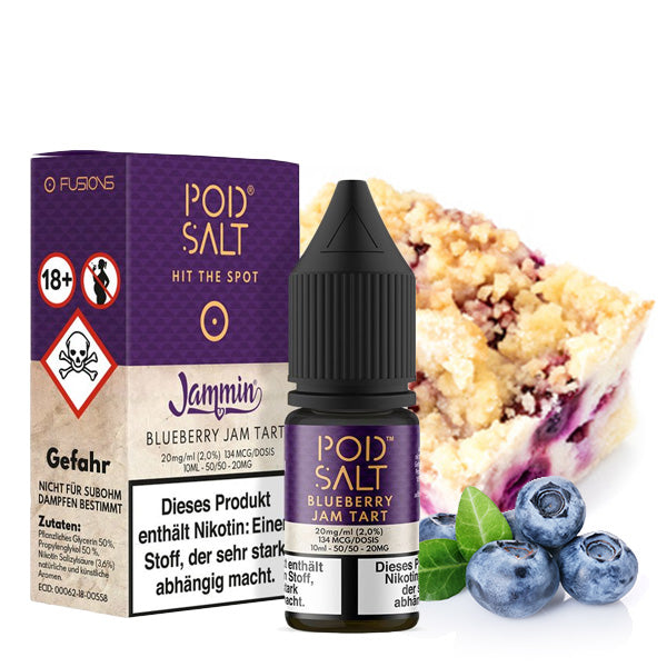 POD SALT FUSION Blueberry Jam Tart 20 mg Nikotinsalz Liquid