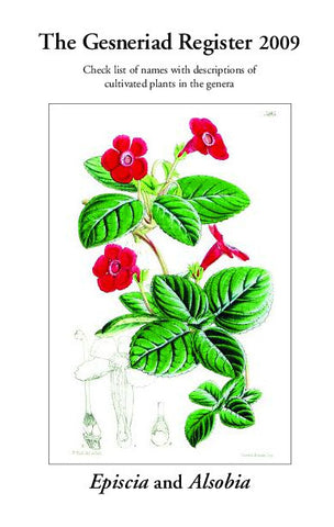 Gesneriad Register - Episcia (2009) PDF Version (to be emailed)