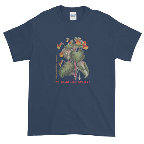 Short-Sleeve Men's 100% Cotton T-Shirt with Kohleria amabilis var. Bogotensis
