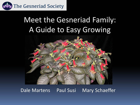 Webinar: Meet the Gesneriad Family - A Guide to Easy Growing (Free Download)