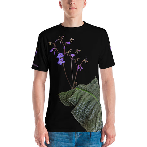 Men's All over print T-shirt with Streptocapus porphyrostachys