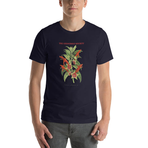 Short-Sleeve Unisex T-Shirt with Columnea erythrophaea print
