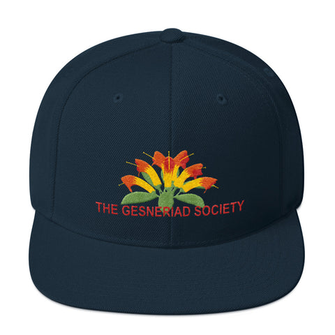 Snapback Hat with embroidery of Aeschynanthus
