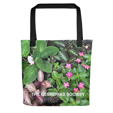 Tote bag with printed Episcias