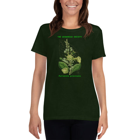 Women's T-shirt with printed Paliavana prasinata