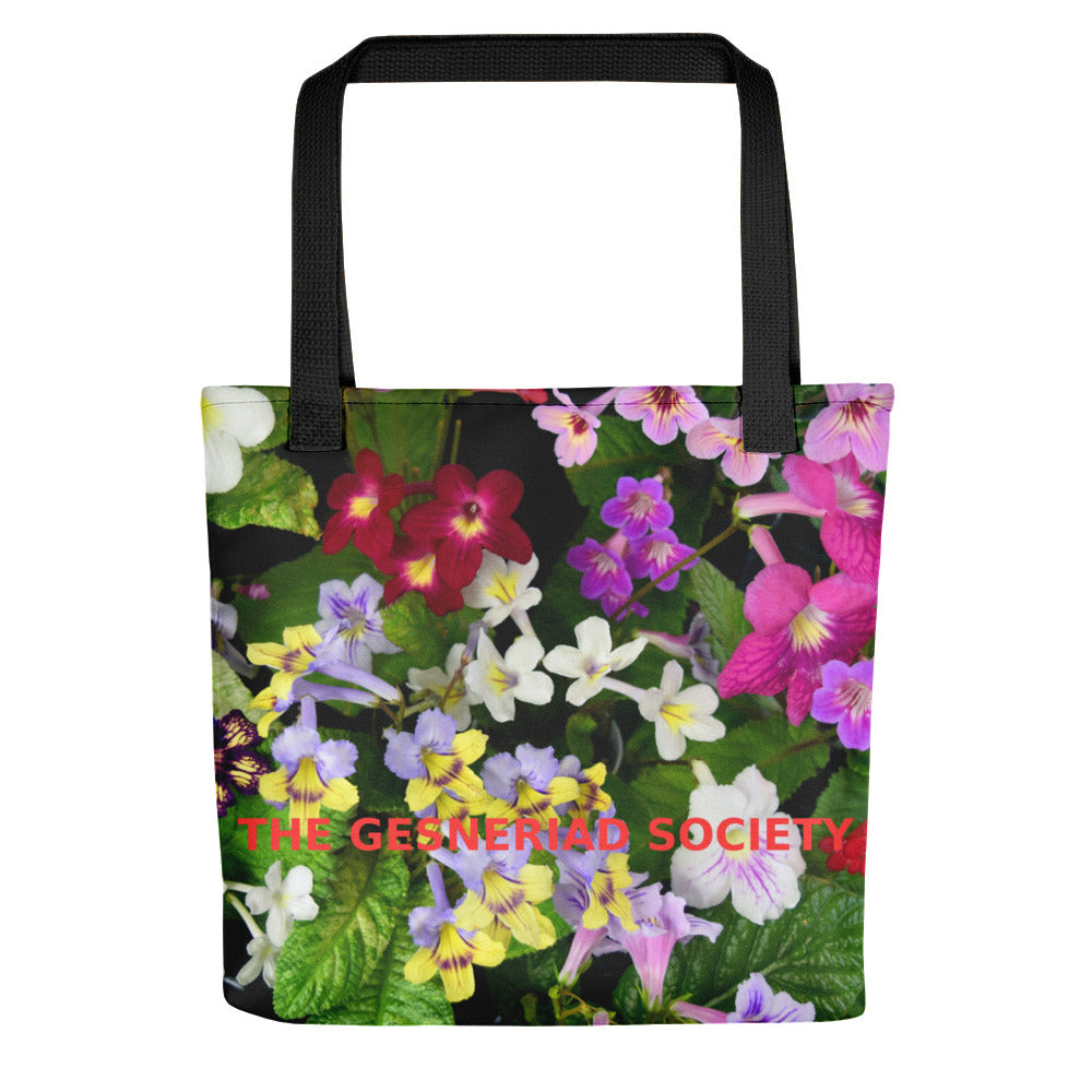 Tote bag with printed Streptocarpus (Grown and photographed by Dale Martens)