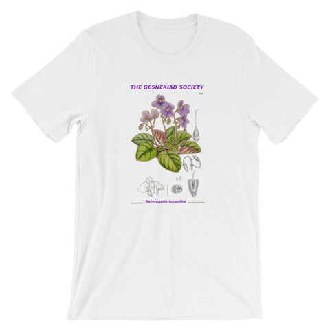 Short-Sleeve Unisex T-Shirt with Saintpaulia ionantha