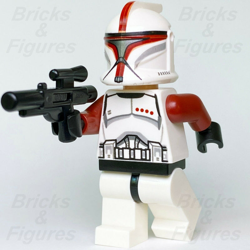 New Star Wars LEGO Red Phase 1 Clone Trooper Captain Minifig 75021 Genuine - Bricks & Figures