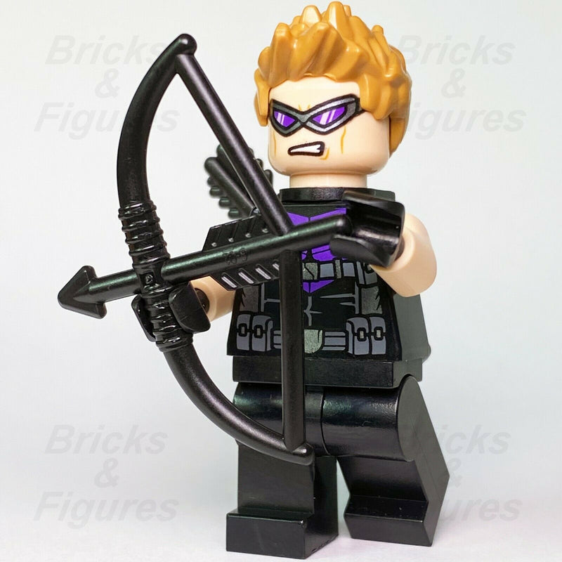 New Marvel Super Heroes LEGO Hawkeye with Goggles Avengers Minifigure 76143