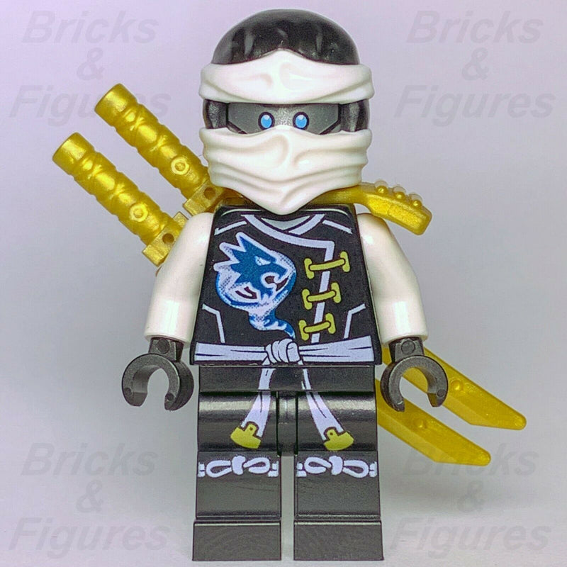 New Ninjago LEGO Ninja Zane Skybound Master of Ice Minifigure 70603 Genuine - Bricks & Figures