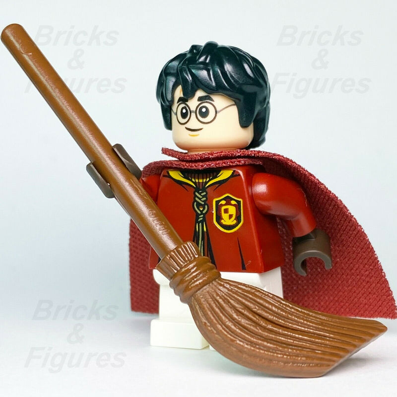 New LEGO® Harry Potter Quidditch Uniform Wizard Minifigure + Flying Broom 75956
