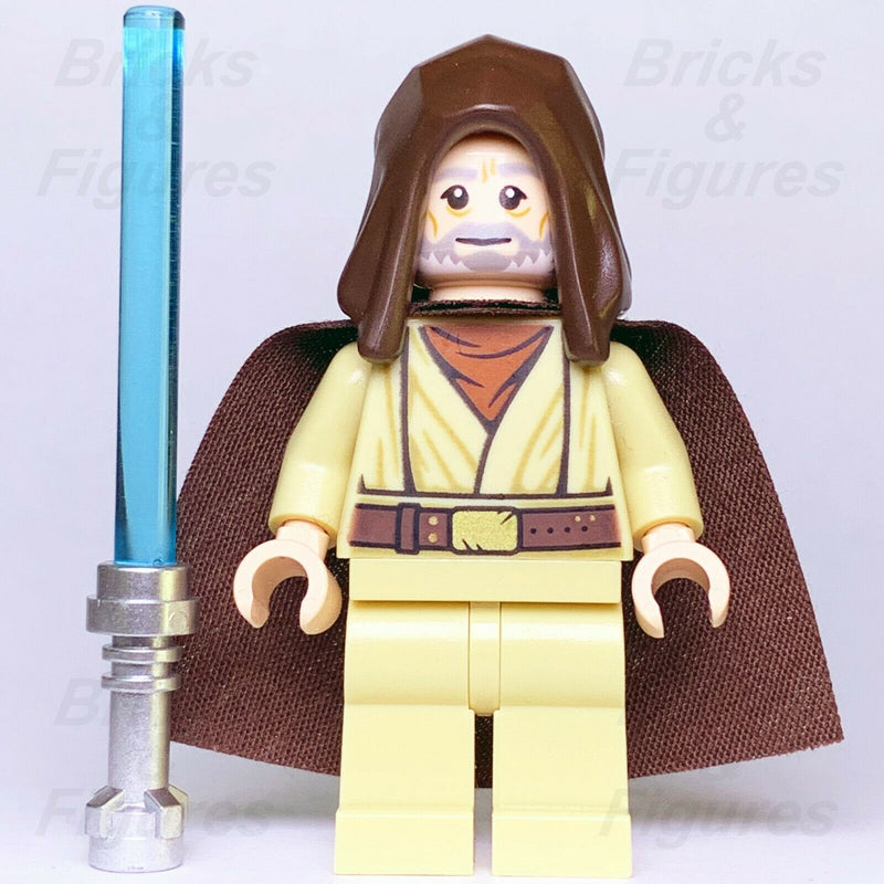 New Star Wars LEGO Obi-Wan (Ben) Kenobi Jedi Master Minifigure 75246 Genuine - Bricks & Figures