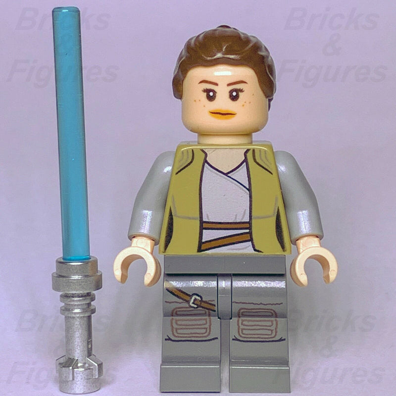 New Star Wars LEGO Rey Dark Tan Jacket Minifigure Jedi Training 75200 Genuine - Bricks & Figures