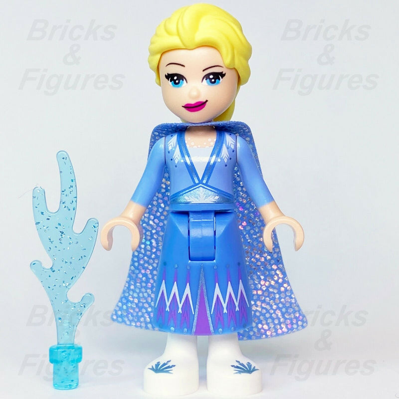 Disney Frozen 2 LEGO Elsa with Glitter Cape Princess Queen Minifig 41168 41166 - Bricks & Figures