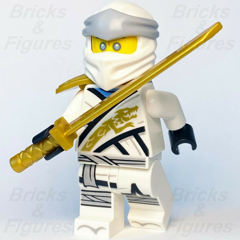 New Ninjago LEGO Zane with Sword Scabbard Legacy White Ninja Minifigure 71705