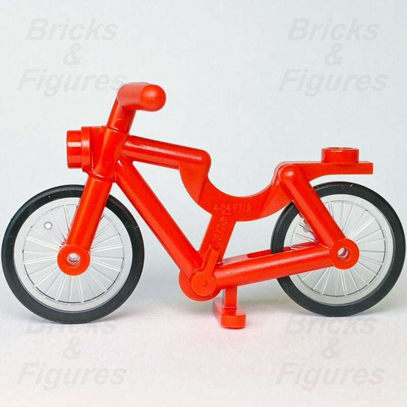 New Town City Recreation LEGO Red Bicycle with Wheels Sport Bike Genuine Parts