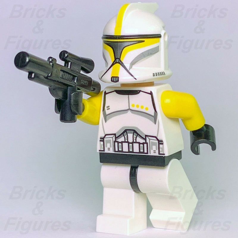New Star Wars LEGO Yellow Phase 1 Clone Trooper Commander Minifig 75019 Genuine - Bricks & Figures