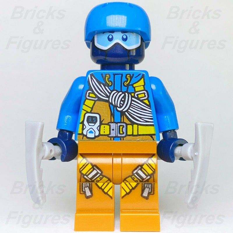 New Town City LEGO Arctic Climber Blue Helmet & Ice Picks Minifgure 60193 60195 - Bricks & Figures