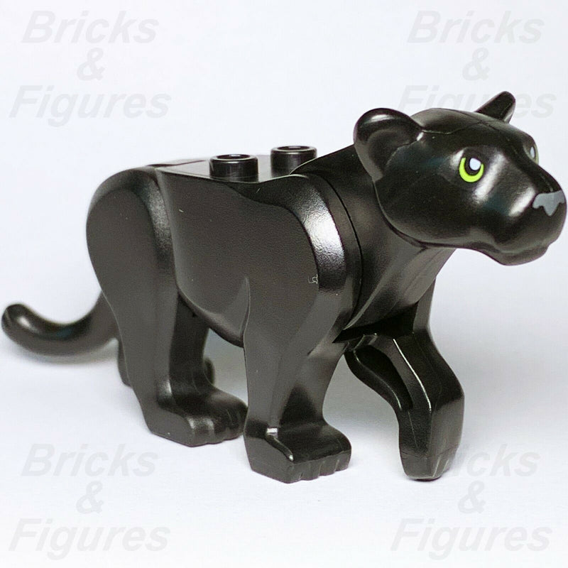 New Town City Jungle LEGO Black Panther Large Cat Animal from set 60159 Genuine - Bricks & Figures