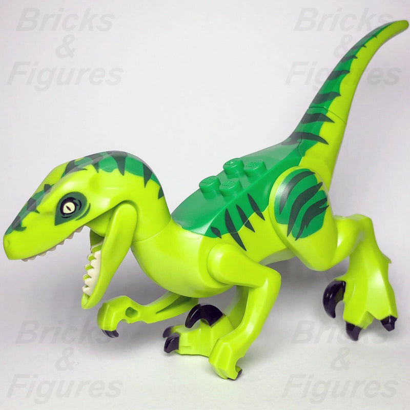 JURASSIC WORLD lego GREEN RAPTOR dinosaur DINO fallen kingdom GENUINE 10757 park - Bricks & Figures