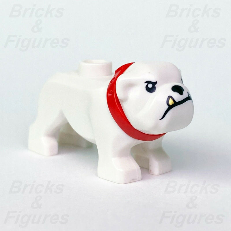 Town & City LEGO White Bulldog Dog with Red Collar & Gold Tooth Police 60246