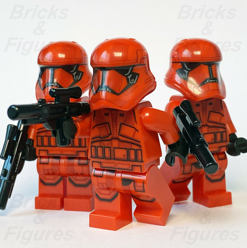 3 x New Star Wars LEGO Sith Trooper Final Order Minifigure from set 75256 75266