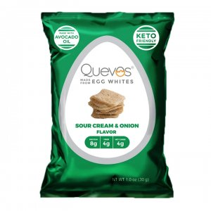 Quevos Egg White Chips Sour Cream & Onion