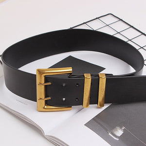 CHICEVER PU Leather Patchwork Metal Button Belt Women Tunic Adjustable Accessories Black Belts Female 2020 Autumn Fashion New