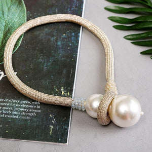 CHICEVER Korean Patchwork Pearl Women's Necklace Knitted Adjustable Long Hit Color Necklaces Female 2020 Fashion Clothes New
