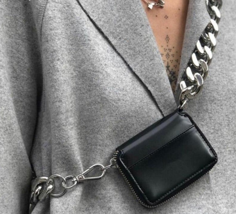 CHICEVER Korean Patchwork Metal Chain Women's Bag Long Hit Color Crossbody Bags Female 2020 Summer Spring Fashion Clothes New