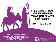Advent Yard Sign for Refugee/Asylum Solidarity
