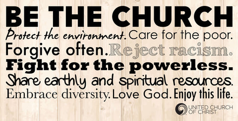 Be the Church Banner (Horizontal)