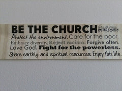"""Be the Church"" Bumper Sticker (5-Pack)"