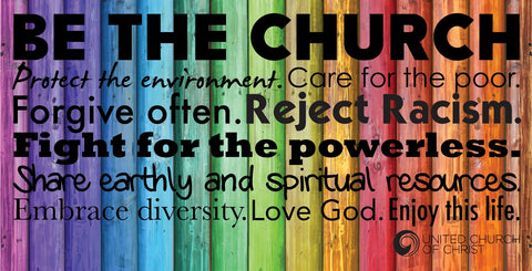 Be the Church Rainbow Banner (Horizontal)