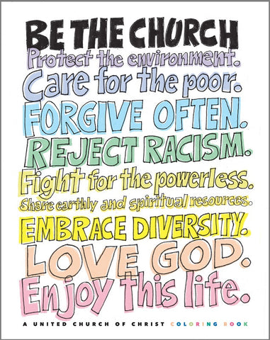 5 - Pack - Be the Church | A United Church of Christ Coloring Book