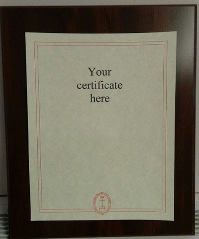 Certificate Wall Plaque