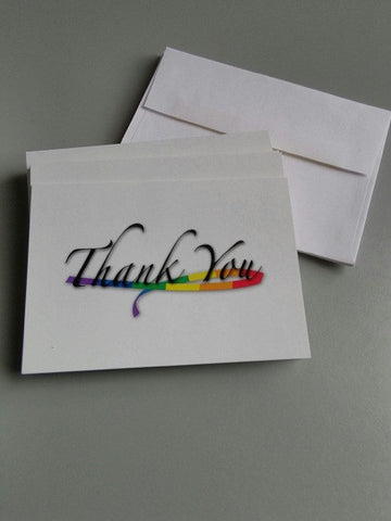 Rainbow Thank You Cards (Pack of 12 with envelopes)