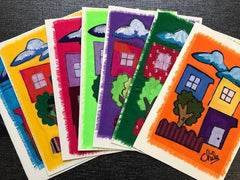 Chile Handmade Cards - PK of 5