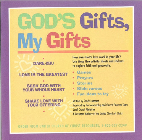 God's Gifts, My Gifts