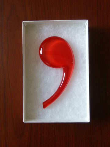 Handblown Glass Comma